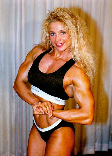 female bodybuilder melissa Blonde